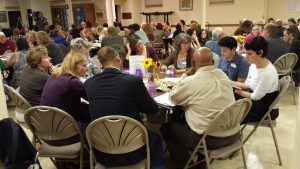 Conversations at a Poverty Summit working session at Grace Lutheran Church in Eau Claire. (Photo courtesy of Clear Vision Eau Claire)