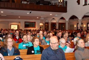 "JONAH members joined other WISDOM affiliates to prepare for meetings with state legislators, during the ""Madison Action Day."" (Photo courtesy of WISDOM)"