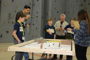 South Middle School team tops entries in Blugold Beginnings Robotics Competition