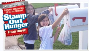 "25th annual ""Stamp Out Hunger"" food drive scheduled for May 13"