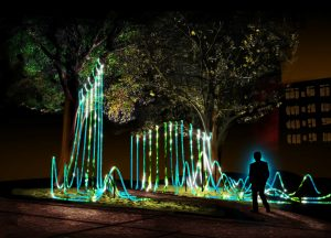 UW-Stout Art and Design students create abstract sculpture for Twin Cities' festival