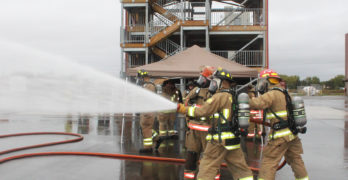 West central Wisconsin firefighters train at new CVTC facility