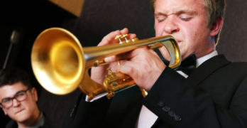 UW-Eau Claire freshman trumpeter is on the road with Lorie Line's orchestra