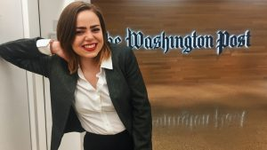 "UW-Eau Claire journalism student gets front-row seat to DC turmoil as Devroy Fellow at ""Washington Post"""